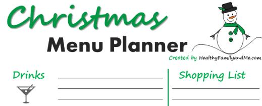 Christmas planner. #christmasplanner #christmasmenu #menuplanner