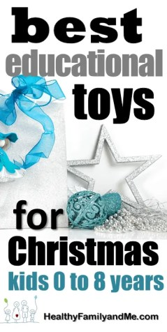 Educational toys for Christmas. Find the best learning toys for your kids appropriate to their developmental stage. #learningtoys #educationtoys #kidslearning #smartkids