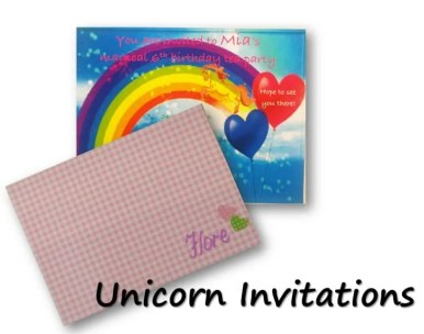 Unicorn Birthday Party Invitations with unicorn costume, birthday invitation, treats, unicorn cake, birthday games and birthday favors. #unicornparty #birthdayparty #birthdayfavors #unicorncake #pinata