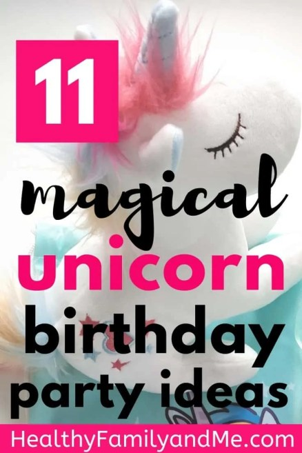 Unicorn birthday party ideas you will love! Discover 11 magical unicorn birthday cake, unicorn pinata, unicorn activities, unicorn favors and more. #unicorn #unicornparty #birthdayparty