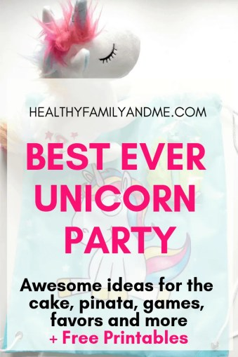 These are awesome ideas for a unicorn birthday party! Super inspirational! Click through now and grab your free printables. #unicorn #unicornbirthdayparty #unicornparty #partyideas #pinata