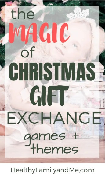 Christmas gift exhange games and themes for families #christmas #christmasgifts #christmastraditions