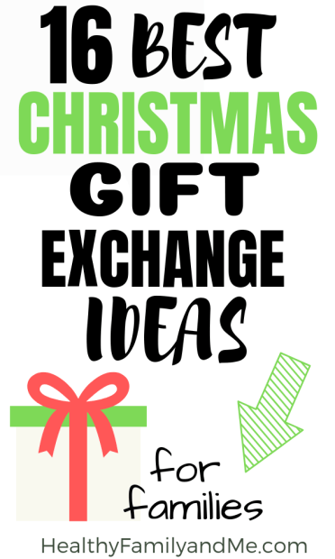 Family Christmas gift exchange ideas. Check out the Christmas gift exhange games and themes for families #christmas #christmasgifts #christmastraditions
