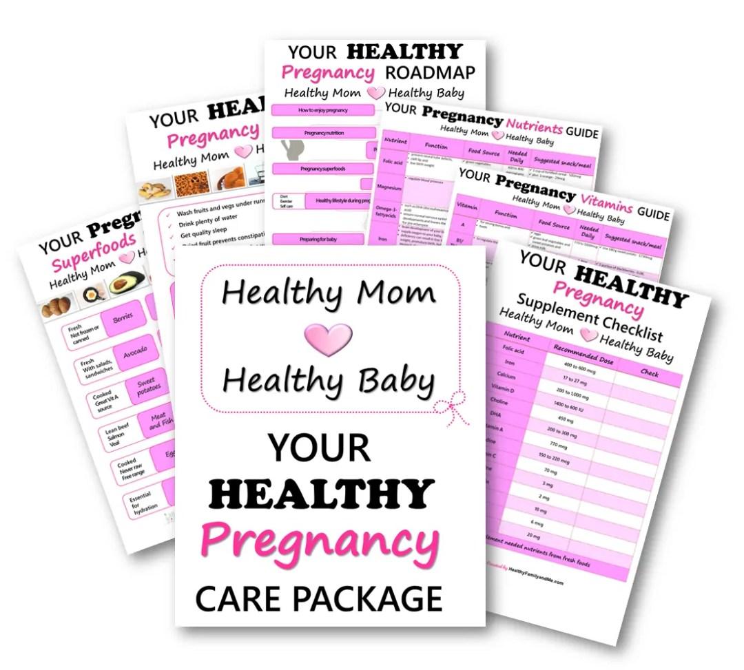 Healthy mom, healthy baby. healthy pregnancy care package #pregnancy #healthypregnancy