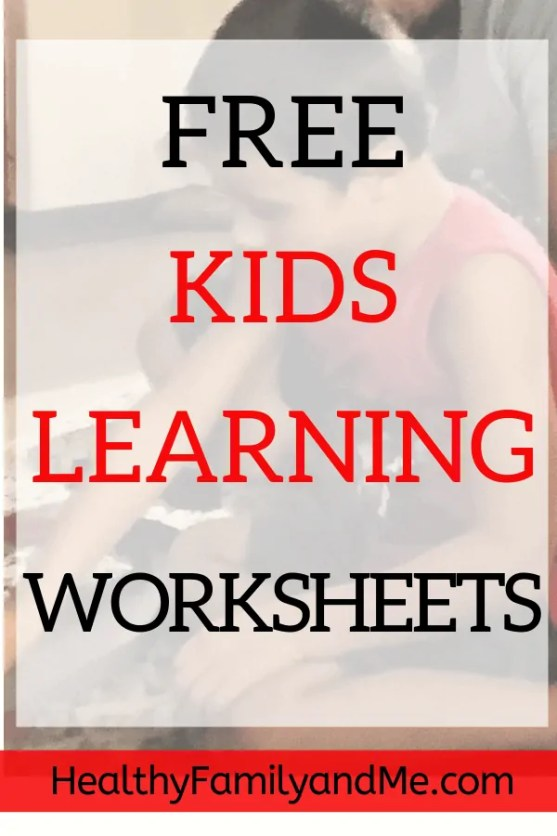 Kids learning worksheets and printables to educate your child including superfoods printables. #kidslearning #education #homeschooling