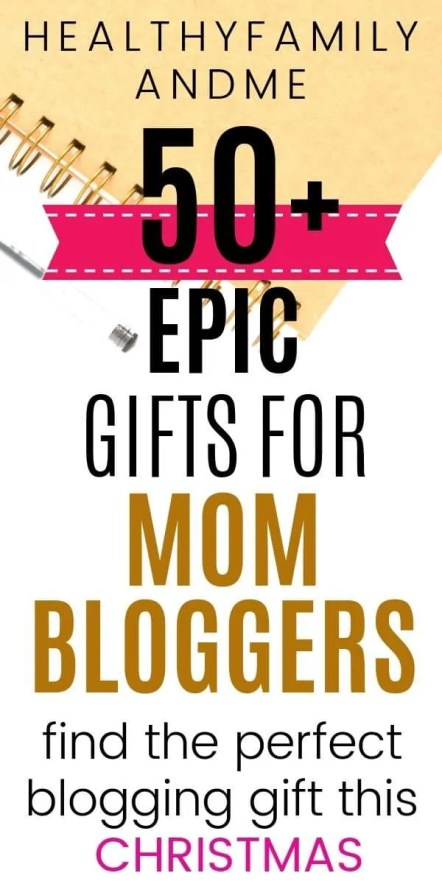 Do you want to discover the best gifts for bloggers? Then click now to find 50 of the most useful blogging gifts all mom bloggers would love to have. There is more than 50 epic blogging courses, blogging books, desk stationary, blogging tips and gifts. #blogging #blogginggifts #giftsforbloggers #howtostartablog #momblog #giftguide
