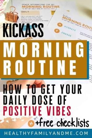 morning routine printable pdf