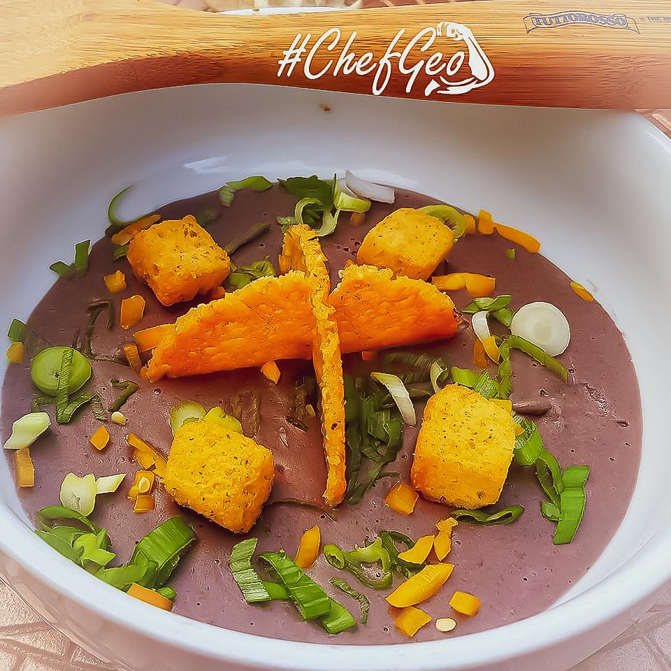 Award Winning Vegan easy Creamy Black Bean Soup