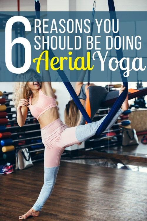 Aerial yoga fun fitness workout