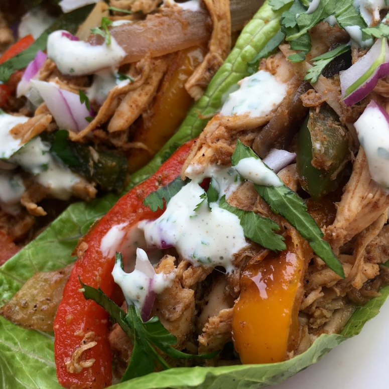 Healthy chicken fajita wraps for easy weight loss