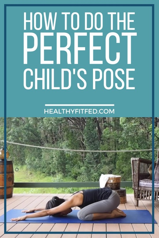 How to do the child's pose. Relaxing and stress relieving pose for basic yoga moves. Step by Step Video Instructions.