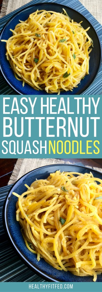 Butternut squash noodles are the perfect noodle! A clean eating meal that will help you lose weight.