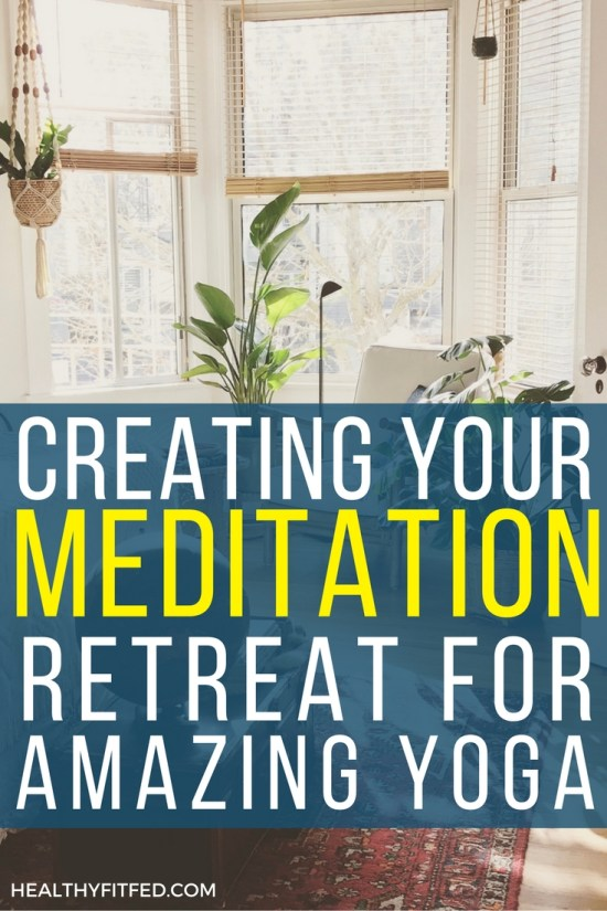 Create your own meditation room area for an amazingly calm yoga experience.