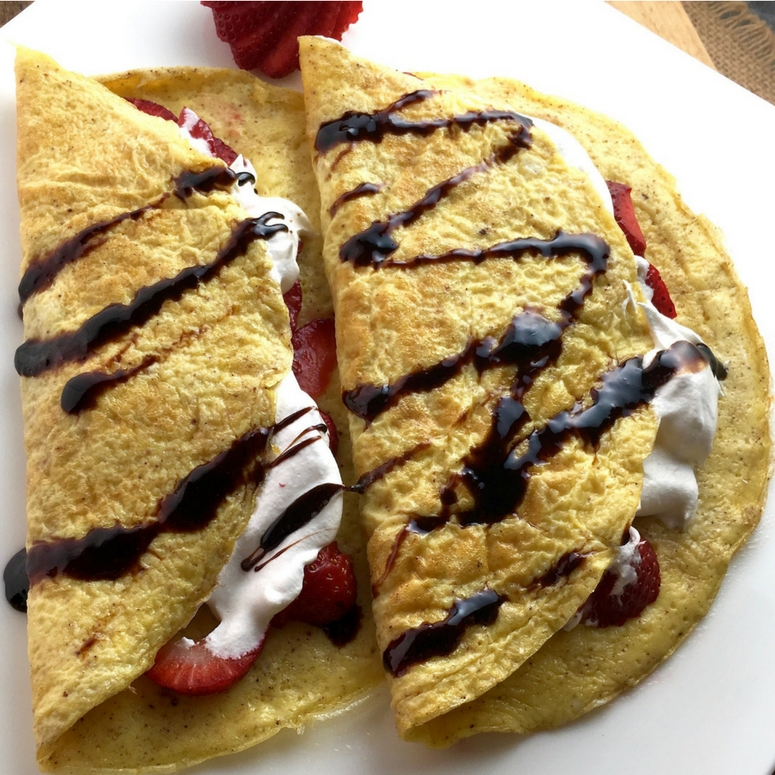 """Easy Healthy Sweet or Savory """"Crepes"""""""