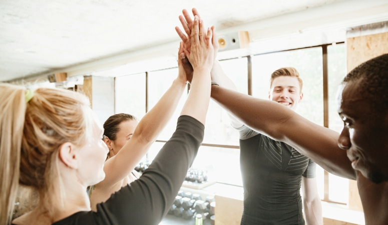 How to get really fit, have fitness friends!