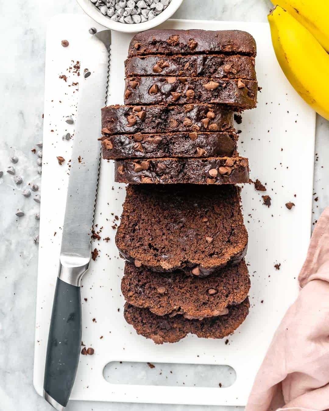 easy banana bread recipe with chocolate