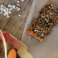 Carrot Cake Oaty Bars ( Sugar free)