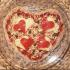 Valentijn platbrood pizza 1