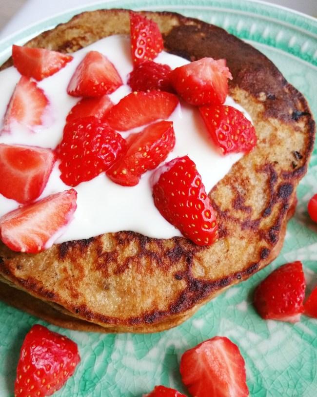 Aardbeien bananenpannenkoekjes 3