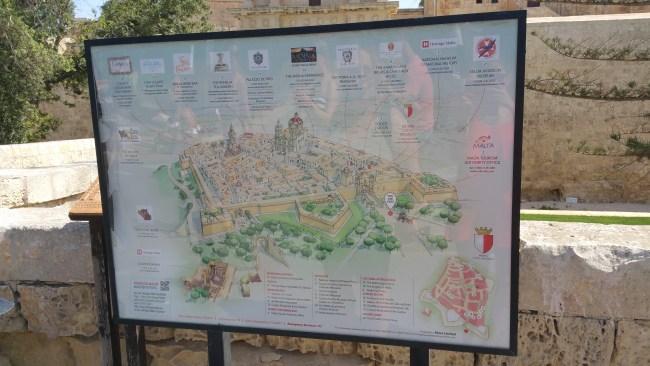 stadsplattegrond van Mdina