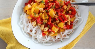 rijstnoedels met paprika curry 1