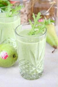 Groene smoothie met Migo peer en rucola1
