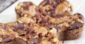 gezonde kerst brownie met walnoten en pindakaas1