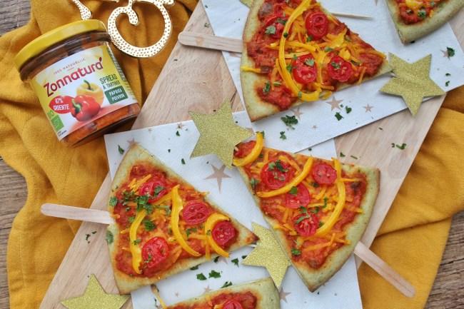 kerstboom pizza's 2