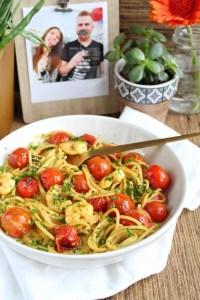 Spaghetti met curry garnalen