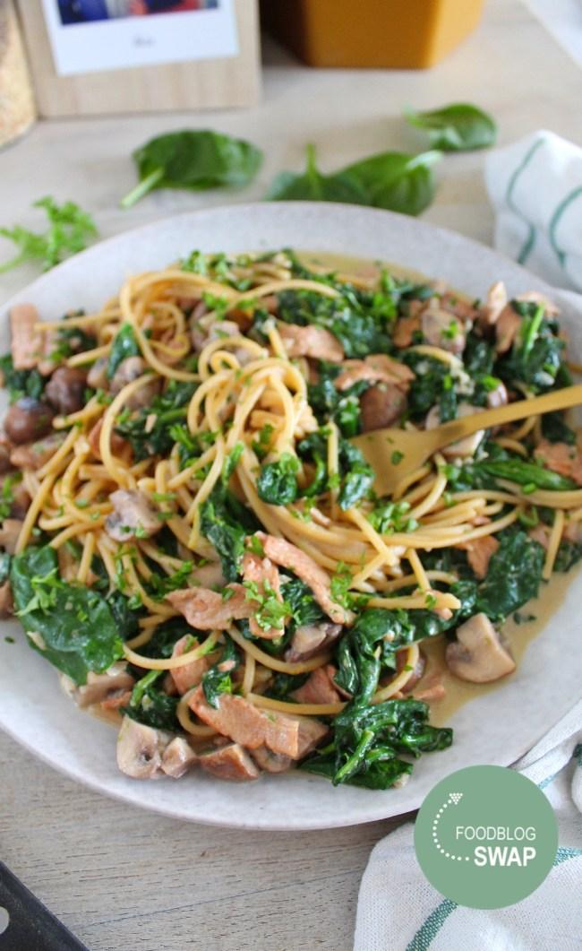 Spaghetti Alfredo foodblogswap