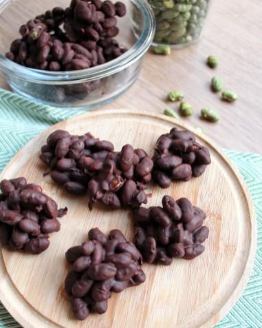 eiwitrijke chocolade rotsjes edamame