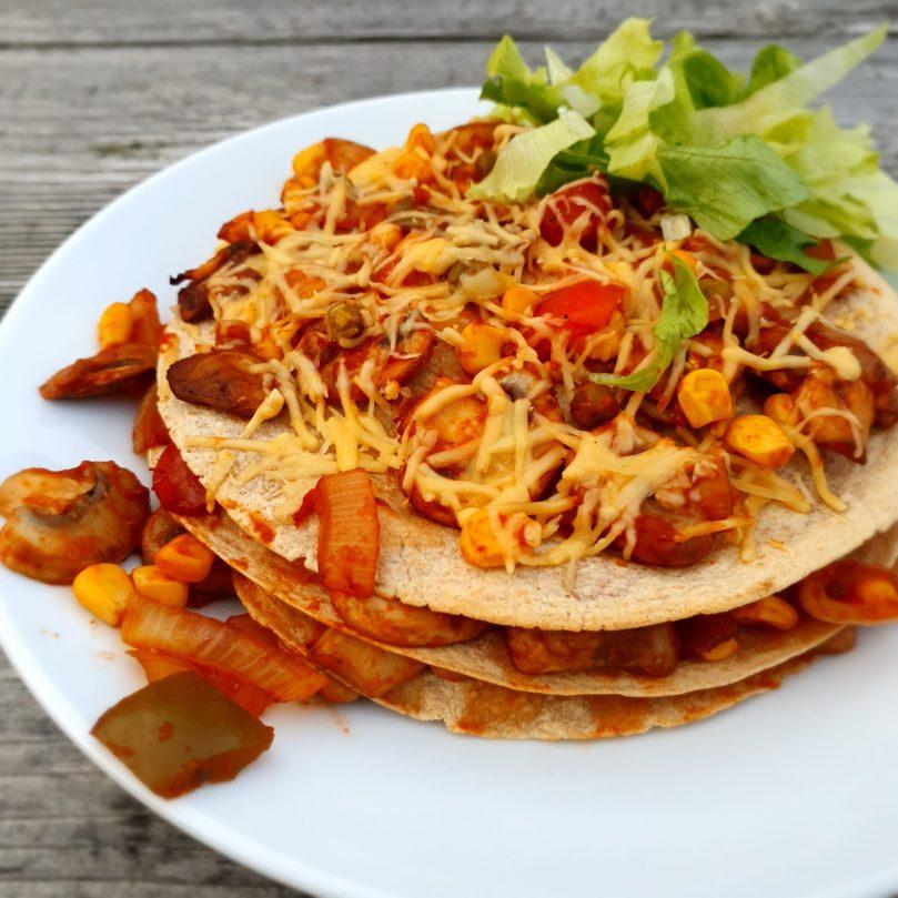 vegetarische tortilla taart van Chantal