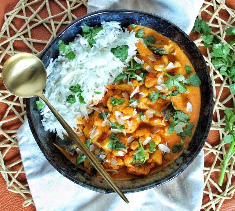 bloemkool curry met kikkererwten
