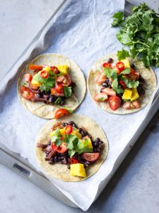 plantbased family meal: black bean tacos