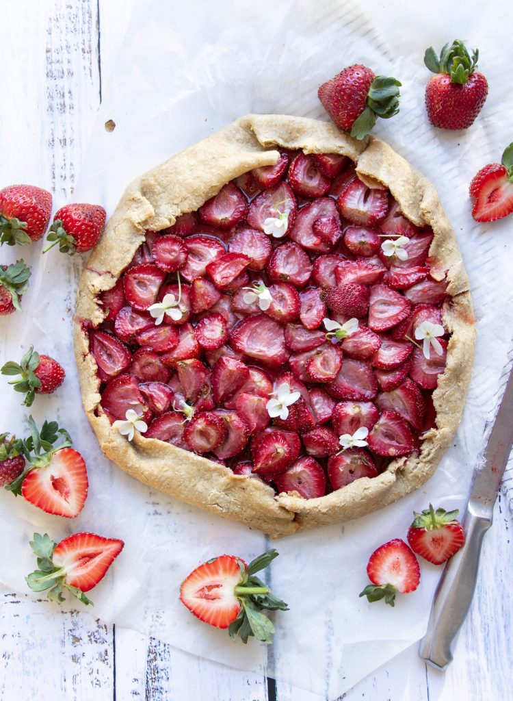 vegan galette recipe with strawberries