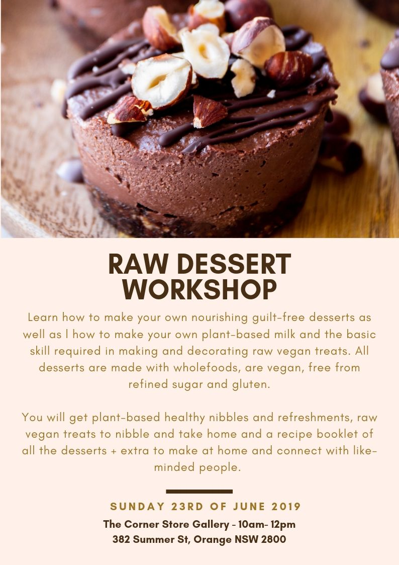 raw dessert workshop