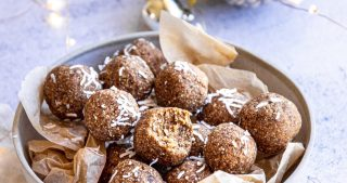 vegan nut-free gingerbread bliss ball recipe