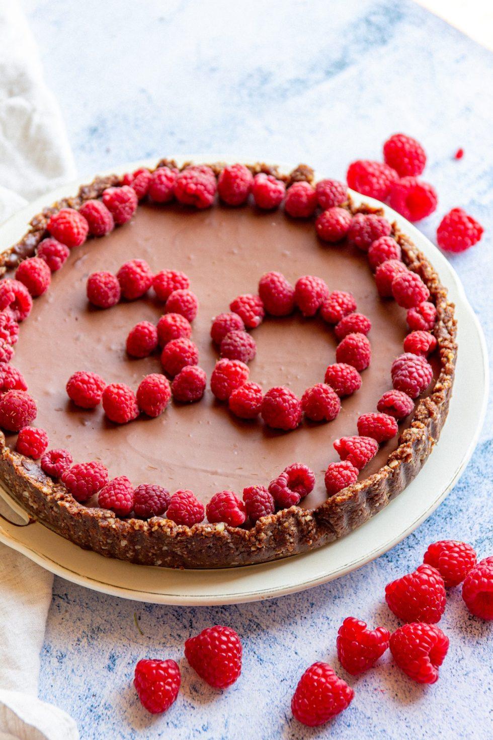 vegan chocolate ganache tart