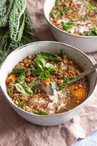 vegan lentil and kale stew recipe
