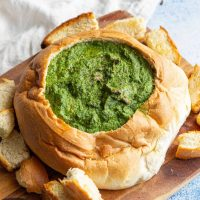 Vegan Spinach & Cheese Cob Loaf Recipe