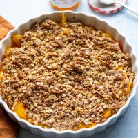 Vegan Mango & Peach Crumble