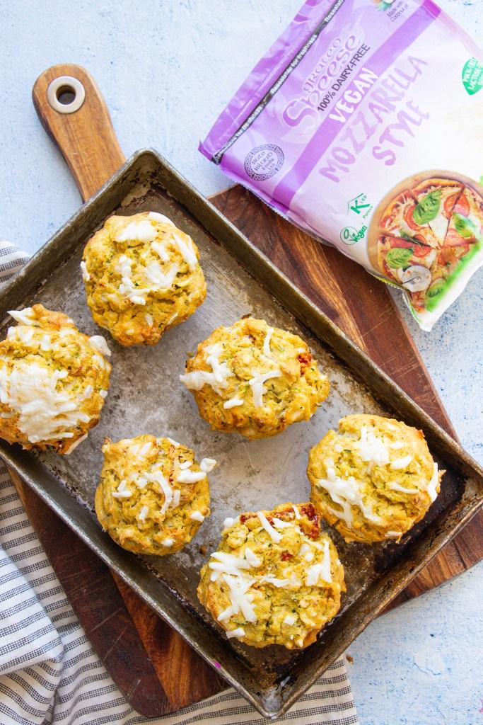 savoury cheese vegan muffins