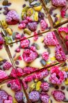 vegan white chocolate rocky road