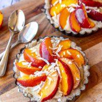 Raw Vegan Nectarine Tart