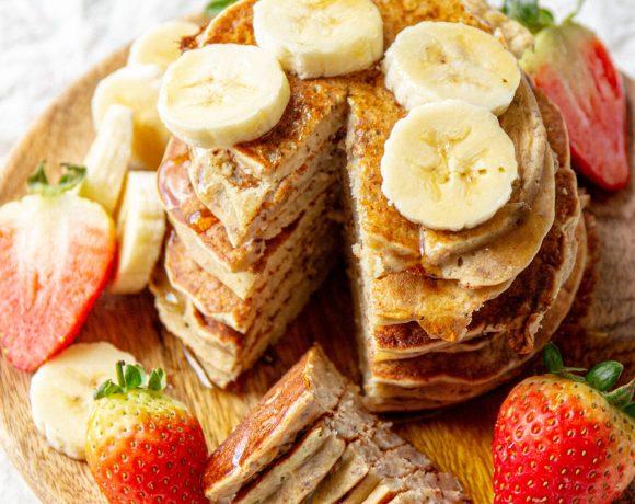 vegan quinoa pancakes