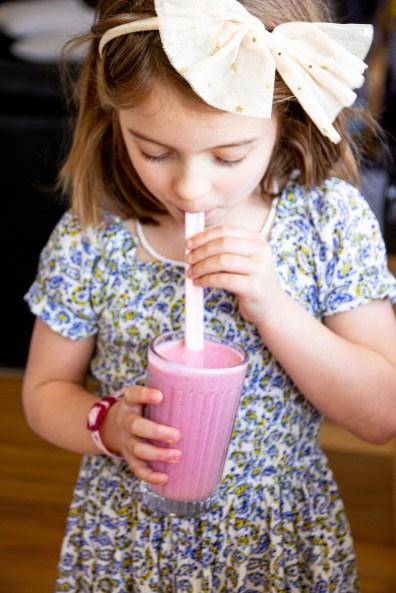 strawberry smoothie recipe for kids