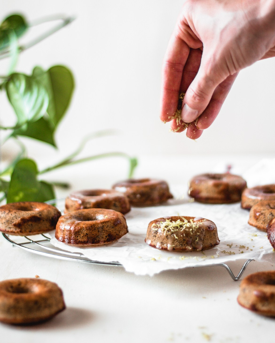 Vegan & Gluten-free Poppyseed & Lemon doughnuts from chickpea flour | Healthy Goodies by Lucia