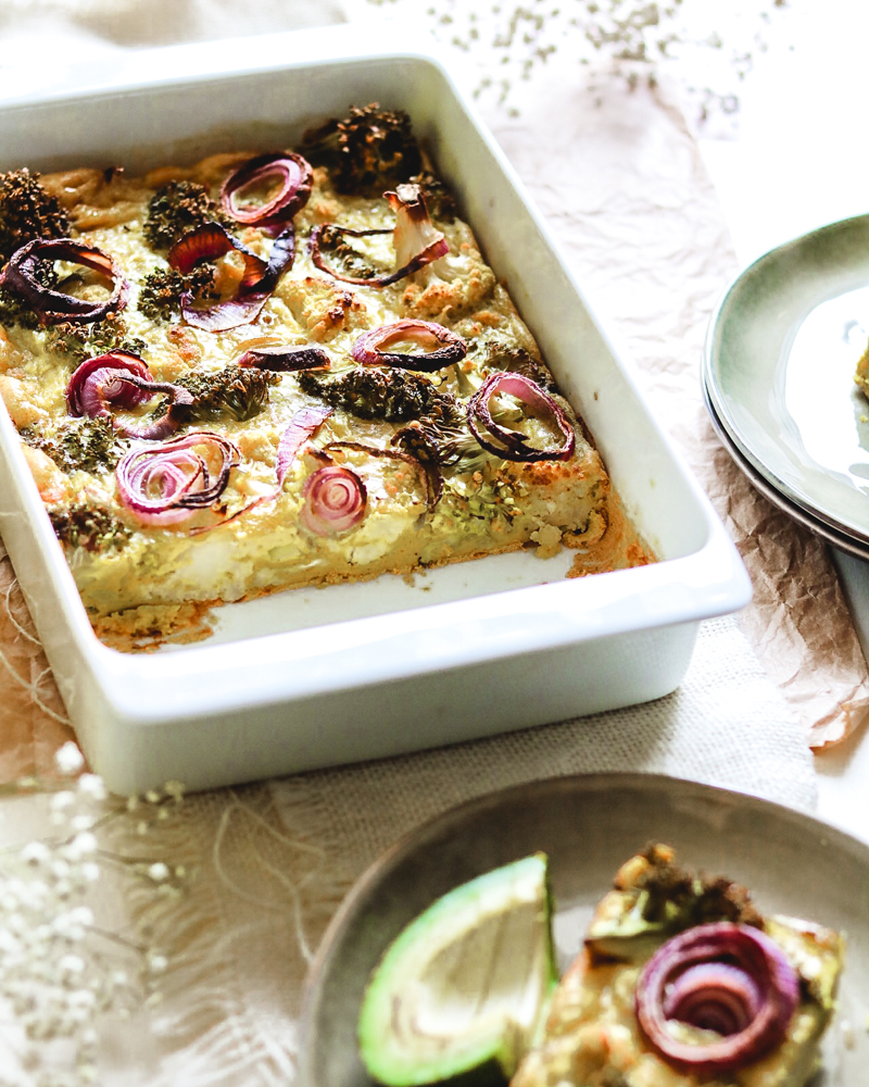 Curry quiche with broccoli and cauliflower   Healthy Goodies by Lucia