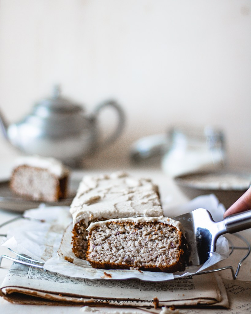 White Bean Coconut & Cashew Cake with Cashew frosting | Healthy Goodies by Lucia