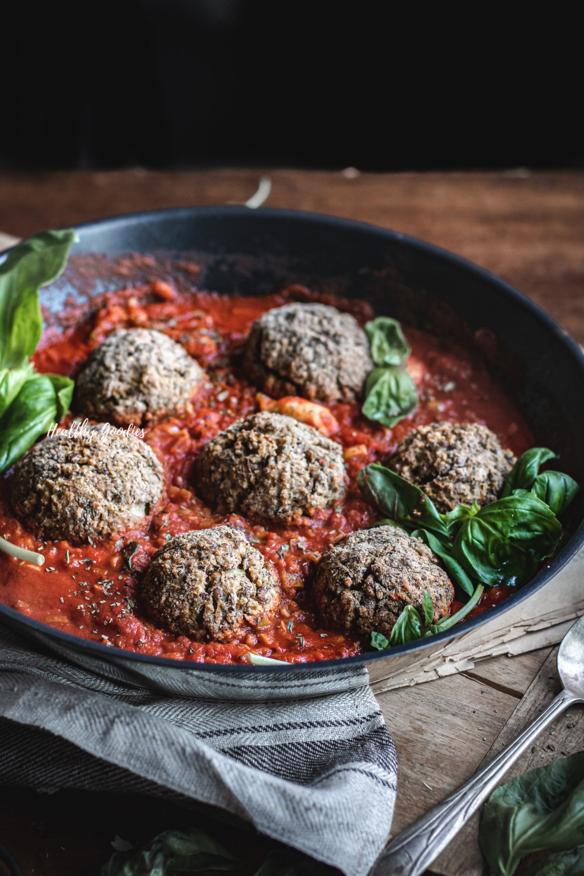 Gluten-free Vegetarian Meatballs with tomato sauce | Healthy Goodies by Lucia Marecak